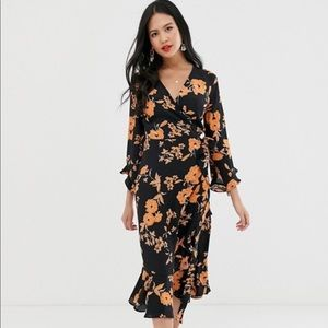 NWT ASOS FLORAL MIDI DRESS